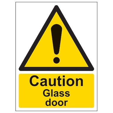 Caution Glass Door - Portrait