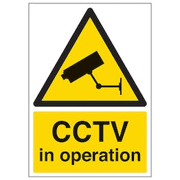 CCTV In Operation - A4