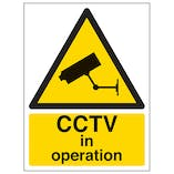 CCTV In Operation - Polycarbonate