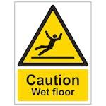 Caution Wet Floor - Portrait