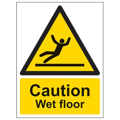 Caution Wet Floor - Portrait
