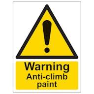 Warning Anti-Climb Paint - Portrait