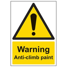 Warning Anti-Climb Paint - A4