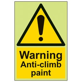 GITD Warning Anti Climb Paint