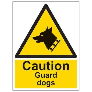 Caution Guard Dogs - Portrait