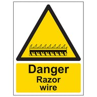 Danger Razor Wire - Portrait