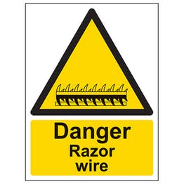 Danger Razor Wire - Portrait