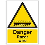 Eco-Friendly Danger Razor Wire - Portrait