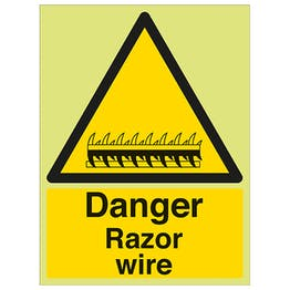 GITD Danger Razor Wire