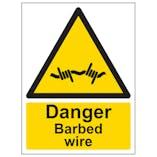 Danger Barbed Wire - Portrait