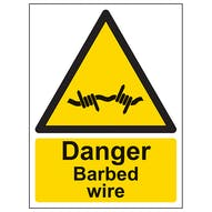 Danger Barbed Wire - Portrait