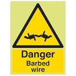 GITD Danger Barbed Wire