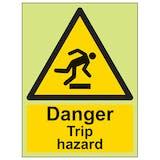 GITD Danger Trip Hazard - Portrait