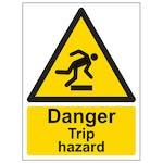 Danger Trip Hazard - Portrait
