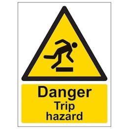 Eco-Friendly Danger Trip Hazard - Portrait