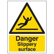 Danger Slippery Surface - Portrait