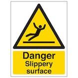 Eco-Friendly Danger Slippery Surface