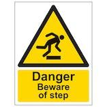 Danger Beware Of Step - Portrait