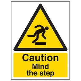 Caution Mind The Step - Polycarbonate