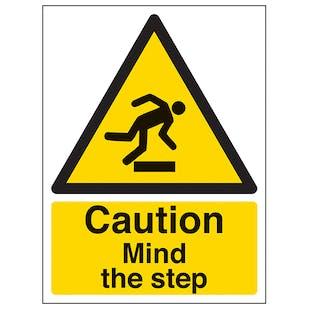 Caution Mind The Step - Portrait