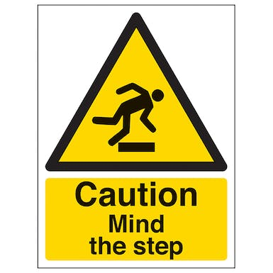 Caution Mind The Step - Portrait