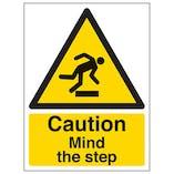 Eco-Friendly Caution Mind The Step - Portrait