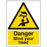Danger Mind Your Head - Polycarbonate