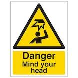 Eco-Friendly Danger Mind Your Head - Portrait