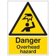 Danger Overhead Hazard - Portrait