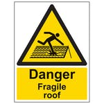 Danger Fragile Roof - Portrait