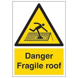 Danger Fragile Roof - A4
