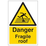 Danger Fragile Roof - Polycarbonate
