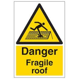 Danger Fragile Roof - Polycarbonate