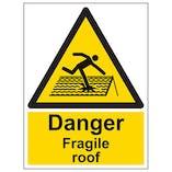 Eco-Friendly Danger Fragile Roof - Portrait