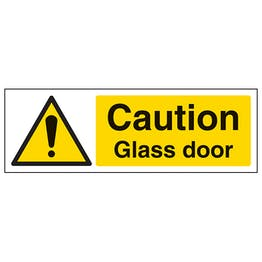 Caution Glass Door - Landscape