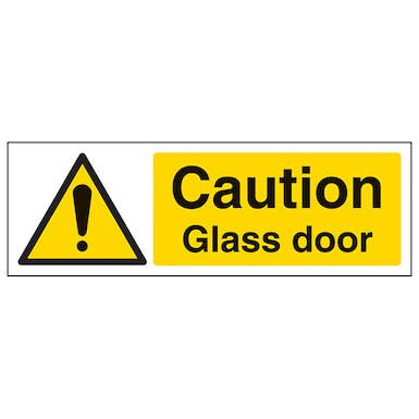 Caution Glass Door Landscape