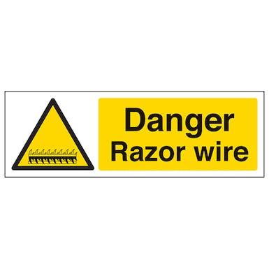 Danger Razor Wire - Landscape