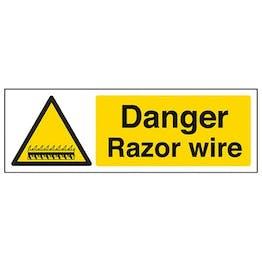 Eco-Friendly Danger Razor Wire - Landscape
