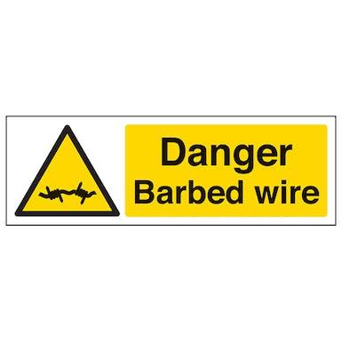 Danger Barbed Wire -Landscape