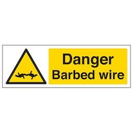 Eco-Friendly Danger Barbed Wire - Landscape