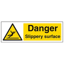 Danger Slippery Surface - Landscape