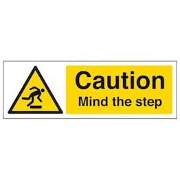 Eco-Friendly Caution Mind The Step - Landscape