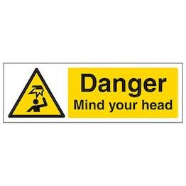 Eco-Friendly Danger Mind Your Head - Landscape