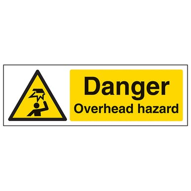 Danger Overhead Hazard - Landscape