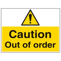 Caution Out Of Order - Large Landscape