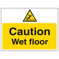 Caution Wet Floor - Large Landscape