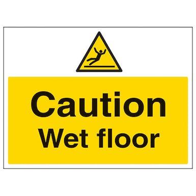 Caution Wet Floor - Large Landscape