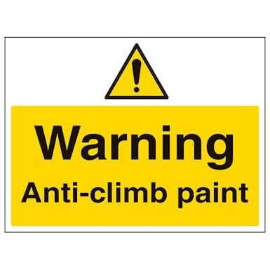 Warning Anti-Climb Paint - Large Landscape