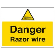 Danger Razor Wire - Large Landscape