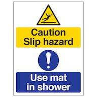 Caution Slip Hazard - Use Mat